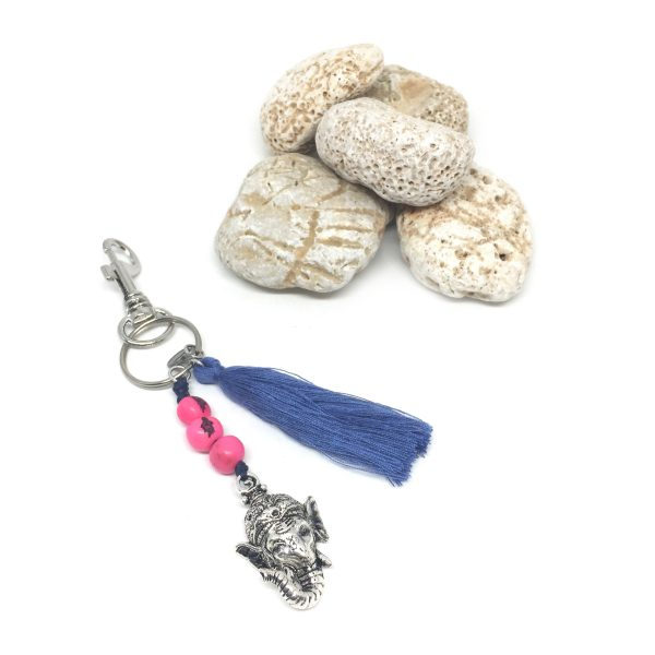 keyring-ganesha-pink-blue